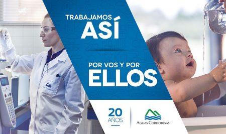 """Aguas Cordobesas: """"El agua nos une, el futuro también""""- Campaña 20 años"""
